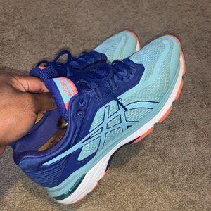 ASICS GT-2000 6 Womens Running Shoes Blue Pink